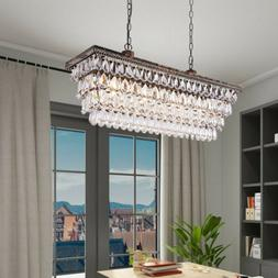 Wellmet Crystal Lights LED Ceiling Light Modern Chandelier L