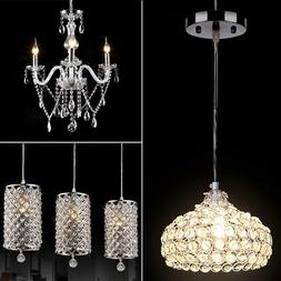 Modern Crystal Chandelier 6Ceiling Light Lamp Pendant Fixtur