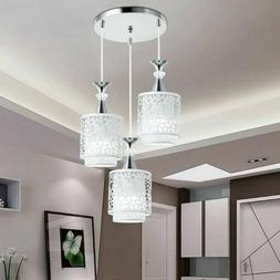 Modern Crystal Pendant Light Iron Ceiling Lamp Chandelier Ho