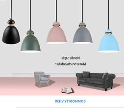 Modern Industrial Pendant Macaron Ceiling Lamp Shade Cafe Lo