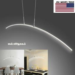 Modern LED Chandelier Dining Room Ceiling Light Acrylic Pend
