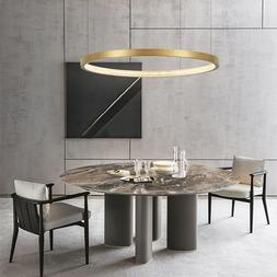Modern Minimalist LED Pendant Light Brass Ring Pendant Light