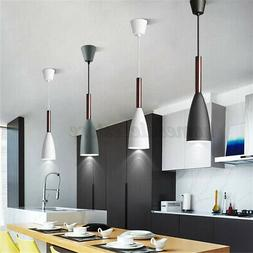 Modern Pendant Lamp Home Dinning Room Bar Wood Hanging Ceili