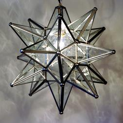 "Moravian Star Pendant Light, 19"", 15"" or 10"", Choose your Gl"