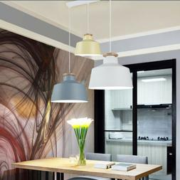 Modern Pendant Ceiling Light Simple Fixture Lamp Wood Hangin