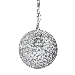 new 1 light crystal chrome mini pendant