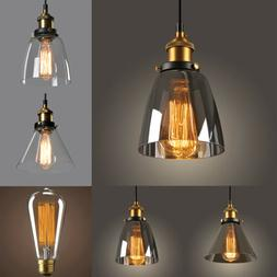 New Modern Vintage Industrial Retro Loft Glass Ceiling Lamp