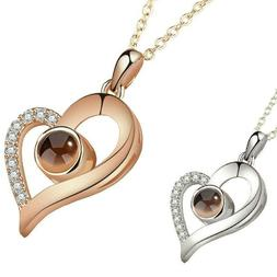 New Silver Rose Gold 100 Languages Light I Love You Projecti
