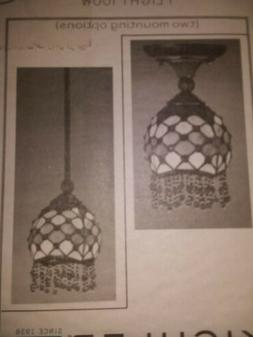 New Kichler Stained Glass Pendant hanging bronze lamp light