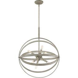 Quoizel OCL2823WM Oculus Pendant Weathered White Maple