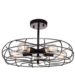 YOBO Lighting Oil Rubbed Bronze Vintage Barn Metal Ceiling C