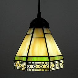 Pendant Lamp Light Fixture Tiffany Style Stained Glass Shade