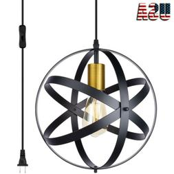 Pendant Light Fixture Plug-in Cord with On/Off Switch Black