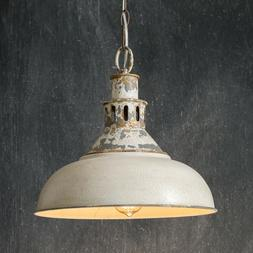Pendant Light Hanging Ceiling Lamp Fixture Distressed White