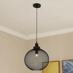 Pendant Light Hanging Lamp Shade Lightening Steel  Mesh Retr