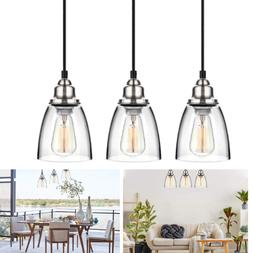 Pendant Light Set Fixture Crystal Mini Chandelier Glass Hang