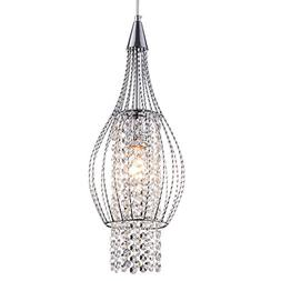 Pendant Lighting Chrome Crystal Chandelier 1 Light Ceiling P