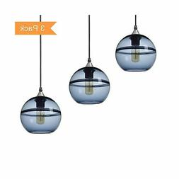 Casamotion Pendant Lighting Handblown Glass Drop Hanging Lig