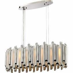 Platinum Collection Pipeline Island Chandelier With 8 Lights