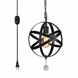 Plug In Ceiling Light For Dining Room Orb Pendant Hanging Sw