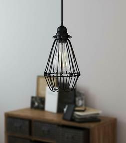 Plug-In Hanging Lamps Swag Pendant Ceiling Light Shade Vinta