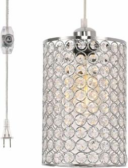Kingmi Plug-In Pendant Lights Dimmable Chandelier With On/Of