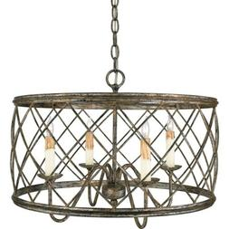 Quoizel RDY2821 Pendants Dury Indoor Lighting; Century Silve