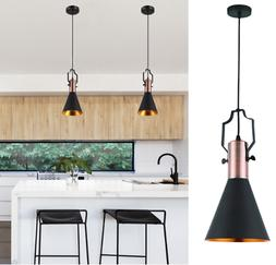 retro industrial pendant lighting black