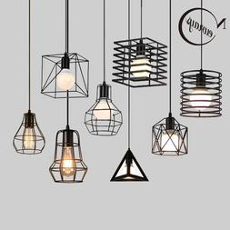 Retro loft industrial iron hanging <font><b>lights</b></font
