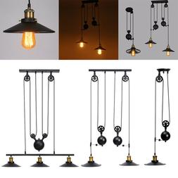 Retro Vintage Edison Industrial Pulley Pendant Light Artisti