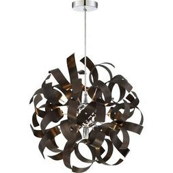 Quoizel Ribbons Pendant with 5 Lights in Western Bronze