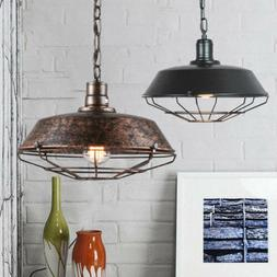 Rustic Pendant Light Industrial Vintage Single Lamp Hanging