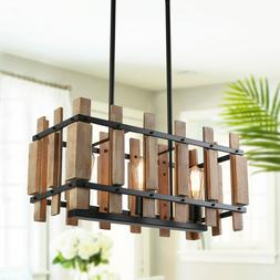 rustic wood chandelier farmhouse kitchen light fixtures