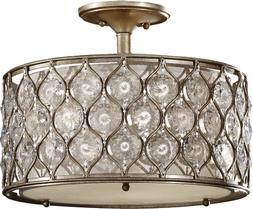 Murray Feiss SF289BUS Lucia 3 Light Indoor Semi-Flush Mount,