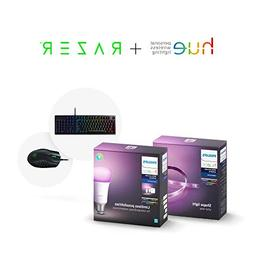 Philips Hue Smart Light Bulb Exclusive Starter Kit and Dimma