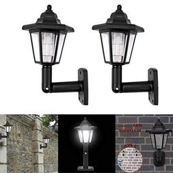 Gotian 2Pcs Solar Power LED Light Path Way Wall Landscape Mo