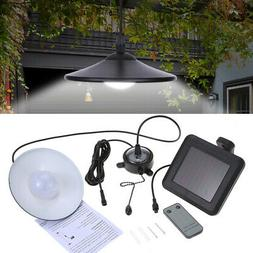 Solar Powered LED Shed Light Pendant Lamp Remote Control for