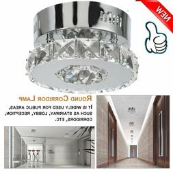 Square Crystal LED Ceiling Light Fixture Aisle Hallway Chand