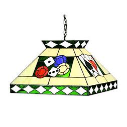 RAM Gameroom Products Stained Glass Tiffany Style Poker Pend