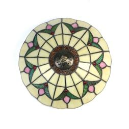 Stained Glass Tiffany Style Crystal Shape Chandelier Ceiling