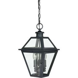 Vaxcel T0081 Nottingham 3 Light 9 inch Textured Black Outdoo