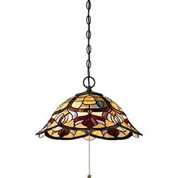 Quoizel TFGD1820VB Three Light Pendant, Large, Vintage Bronz