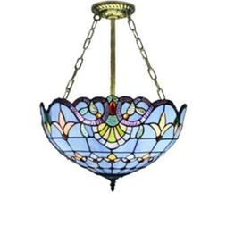 Tiffany Baroque Design Stained Glass Hanging Pendant Light B