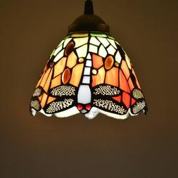 Tiffany Pendant Light Stained Glass Dragonfly Country Style