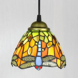 Tiffany Style Ceiling Lamp Hanging Light Fixture Stained Gla