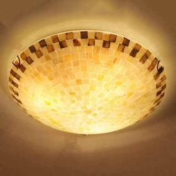 Tiffany Style Ceiling Lamp Pendant Light Fixtures Shell Chan