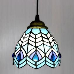 Tiffany Style Pendant Light Stained Glass Hanging Ceiling La