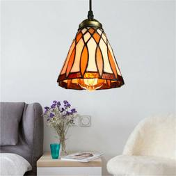 tiffany style stained glass ceiling pendant light