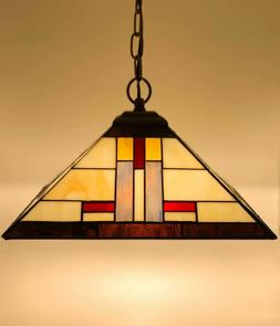Tiffany Style Stained Glass  Hanging Pendant 1 Light Fixture
