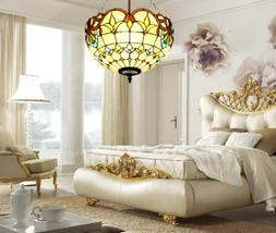Tiffany Style Stained Glass Lamp Shade Ceiling Light Pendant